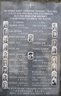 Memorial of the the Zákřov massacre in Tršice Zákřov - February 2011