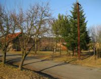 A place where the house of the Švarc family stood. The house was burnt down during the attack.