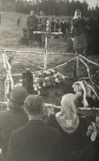 Relatives of the victims at the site of the massacre