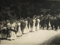 The funeral of men murdered in the the Zákřov massacre - 14 May 1945