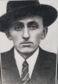 Mrs. Calábková's father Oldřich Ohera, killed in the Zákřov massacre