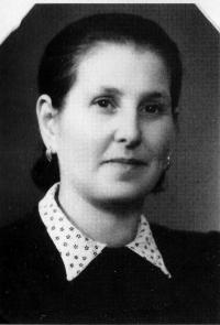 Růžena Wolfová from the Jewish family hiding at the Ohera's house