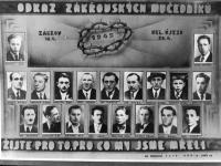 Muži zavraždění při Zákřovské tragédii 20. dubna 1945(Josef Marek je otec pamětnice a Drahomír Marek bratr)