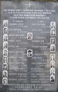 Památník Zákřovské tragédie v Tršicích Zákřově-únor 2011 (2)