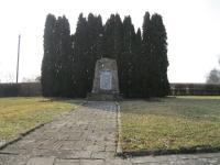 Památník Zákřovské tragédie v Tršicích Zákřově-únor 2011