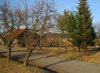 Místo kde stál dům Švarců, který vypálili vojáci z kozáckého praporu