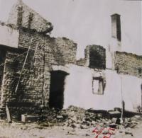 Dům Švarců po vypálení