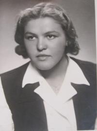 Olga Glierová (Oherová) asi v roce 1950