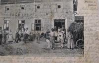 Pohlednice zákřovského hostince v 19. století