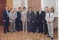 Jaromír Ulč v roce 1987 v Moskvě s kolegy z KGB