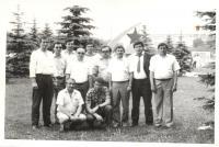 Jaromír Ulč s kolegy Svídník 1987
