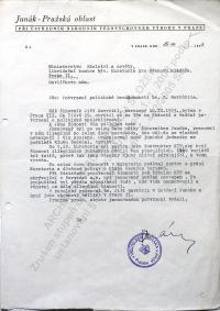 Navrátil Jiří - Potvrzení o odbojové činnosti 1945