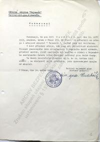 Navrátil Jiří - Potvrzení o odbojové činnosti