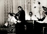 Při vystoupení s kapelou v 70. letech