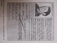Vězeňské doklady přítelkyně Boženy Novákové