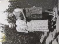 Společná fotografie s maminkou Cecílií