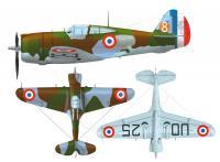 Curtiss H-75A2 během bitvy o Francii používala 1. letka GC I/5, u které sloužili čs. piloti včetně Františka Peřiny