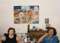 x27 -Pamětnice doma se synem Petrem (konec devadesátých let 20. stol.)