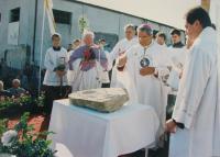 Svěcení základního kamena kostela sv. Ducha ve Starém Městě