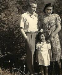 The Kubík family, photo taken on Sunday June 7, 1942