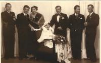Wedding photo of her parents