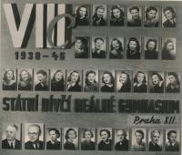 Tablo oktavánů, Jitka označena tečkou, 1946