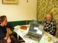 Antonín Svoboda v roce 2011 během natáčení s Michalem Medkem