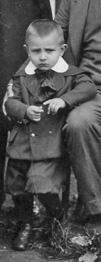 Josef Vlček v roce 1924 v Kaňovicích