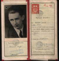 Vysokoškolský index Františka Suchého (1)