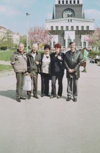 2005 František Suchý s rodinou manželky