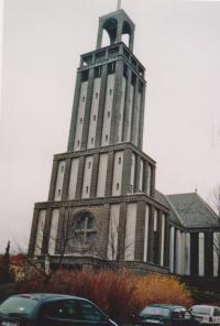 2012 věž kostela Sv. Hedviky