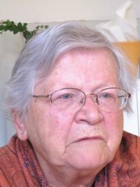 Věra Bořkovcocá, roz. Krejcárková během natáčení v roce 2011