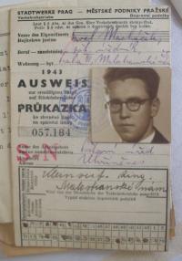 Pavel Macháček protektorátní doklad