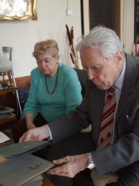 Pavel Macháček a jeho žena Božena