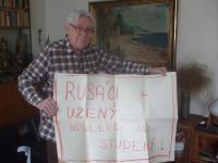 Pavel Macháček, má sbírku plakátů z roku 1968