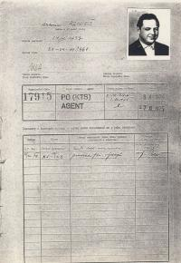 Agent Antonín Mikeš nasazený na Vladimíra Hučína