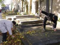 Fotografie Slánských listů z úpravy hrobu J. Pály