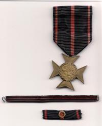 23. října 1948 pamětní odznak za účast v národním boji za osvobození Československa v letech 1939-1945 od Svazu osvobozených politických vězňů a pozůstalých po politických vězních