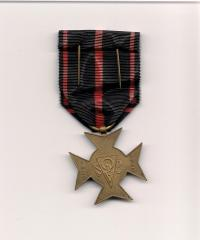 October 23, 1948: medal for involvement in the struggle for Czechoslovakia´s liberation in 1939-1945 from the Union of Liberated Political Prisoners and their Bereaved