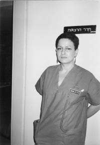 Kateřina Bittmanová v nemocnici v Izraeli, 80. léta