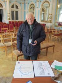Josef Čoček v Hranicích v říjnu 2012