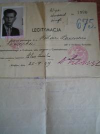 Identity card from Czech and Slovak Legion
