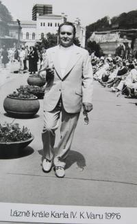 Jan Jančí v roce 1976 v lázních v Karlových Varech