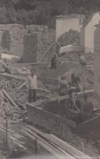 Construction of the prayer house in Kdyně