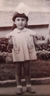 Gabriela Bairova Stoyanová v dětství