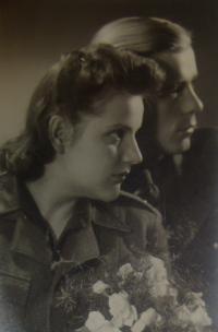 The wedding of Leopold Vojtěchovský and Věra Rážová, 21.5.1945