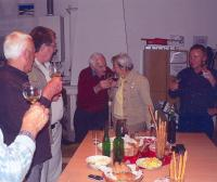 Dana Zátopková v roce 2008 u pana Hubačky ve sklípku