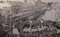 Bystřice nad Pernštejnem při návštěvě T. G. Masaryka ve dvacátých letech