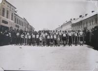 Lyžařské závody v Bystřici nad Pernštejnem v roce 1931, které uspořádal sportovní klub