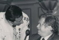 With Václav Havel in Zurich on November 22, 1990